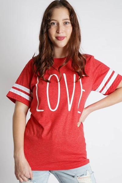 Reppin' Love Jersey Graphic Tee