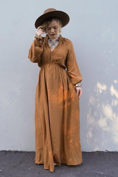 Bella Donna Maxi Dress, Rust