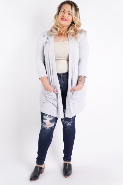 Let Loose Open Front Cardi, 3 Colors!