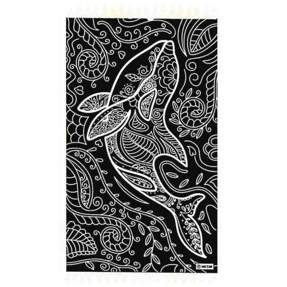 Floral Dolphin Towel