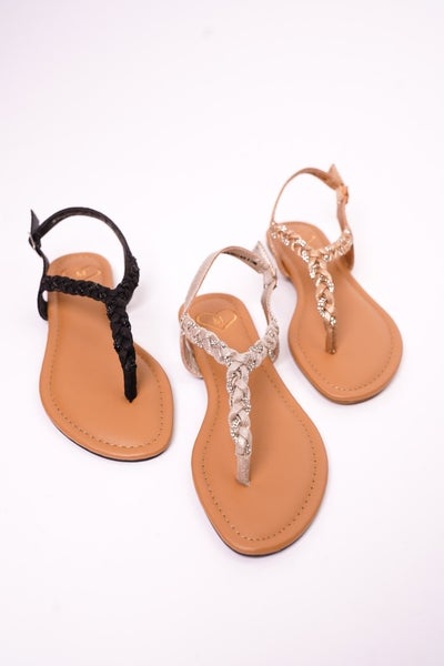 Charge Strappy Sandals, 3 Colors!