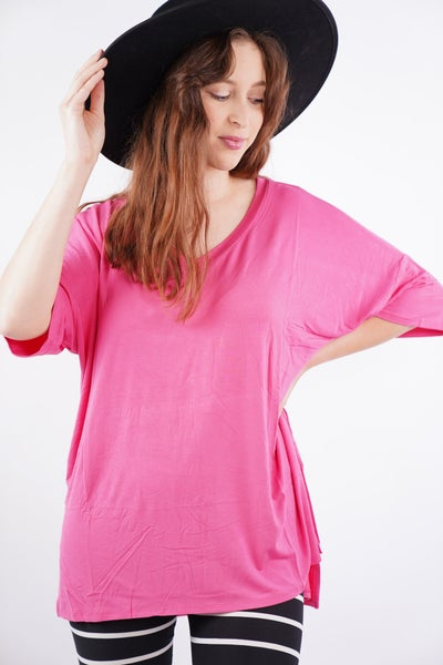 Simple Times Dolman Sleeve V Neck Top, 5 Colors!