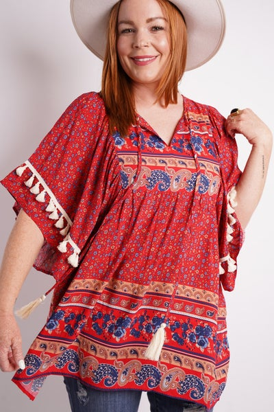 Trip To The Desert Tunic Top, 2 Colors!