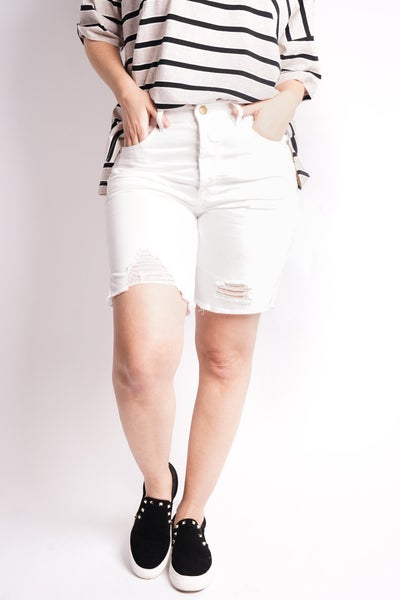She's A Tomboy Twill Shorts, 2 Colors!
