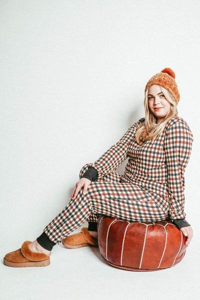 The Joey Pajamas In Brown Plaid