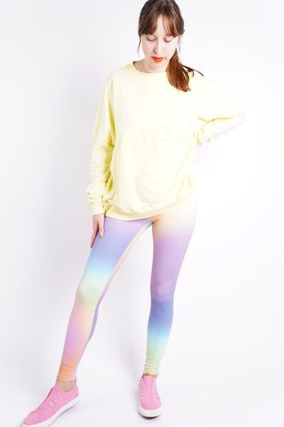 I Believe Rainbow Pastel High Waisted Leggings