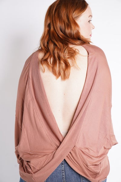 Twist And Shout Batwing Sleeve Top, 2 Colors!