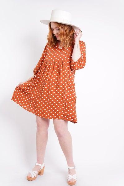 Polka Dot Party Babydoll Dress, 2 Colors!