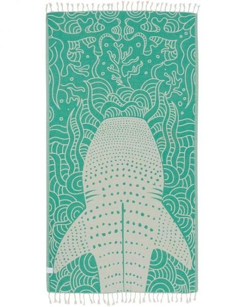 Green Whale Shark Towel