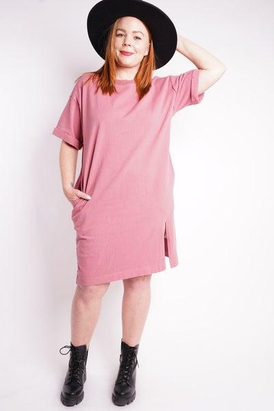 Dahlia Jersey T-Shirt Dress, 2 Colors!