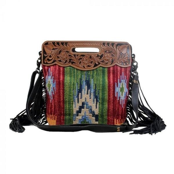 Jardin Hand-Tooled Bag By Myra Bag