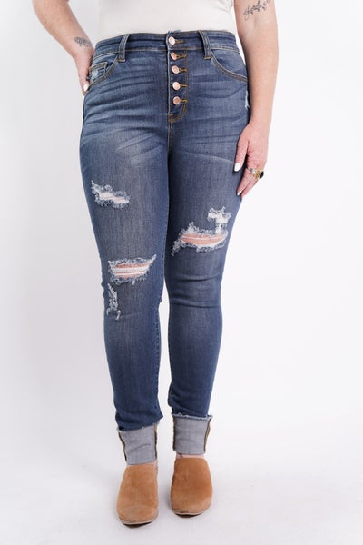 The STELLA High Rise Distressed Skinny By Judy Blue