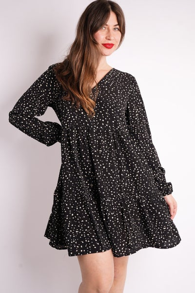 Always On The Dot Tiered Dress