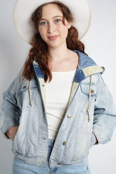 Sweet Jane Denim Jacket, Light Blue