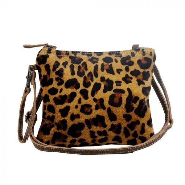 Retro Leopard Print Crossbody Bag By Myra Bag