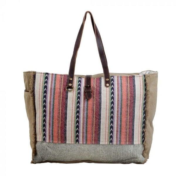 Pastel Hues Weekender Bag By Myra Bag