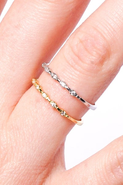 Marry Her Adjustable Diamond Ring - Silver Or Gold