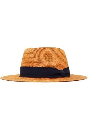 Orange Heathered Paper Braid Panama Hat
