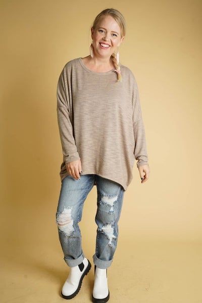 Jade Chic Tunic In Taupe