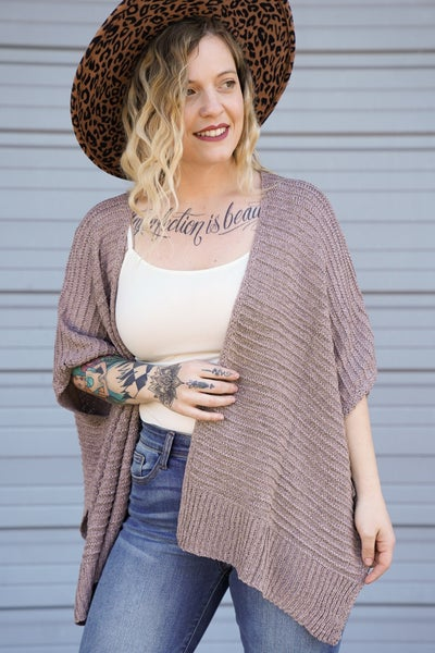 So Not Over Knit Poncho Cardi, 2 Colors!