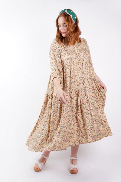 Cara Tiered Floral Midi Dress, 3 Colors!