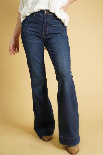 The JONI Hi-Rise Trouser Flare By Judy Blue
