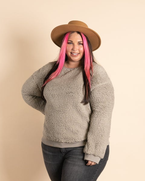 Snuggle Up Fuzzy Sweatshirt By Easel