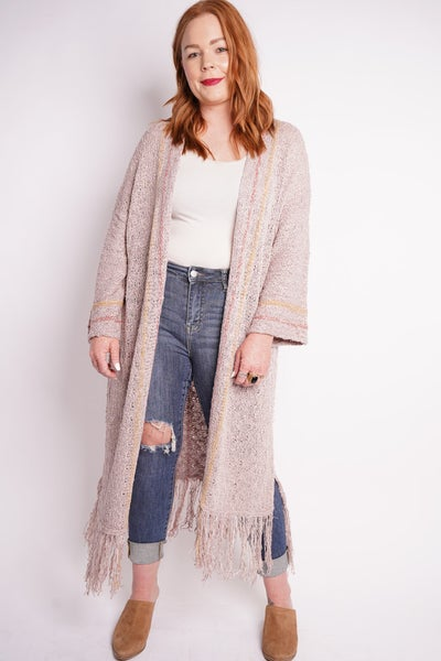 Born To Be Boho Longline Knit Cardi