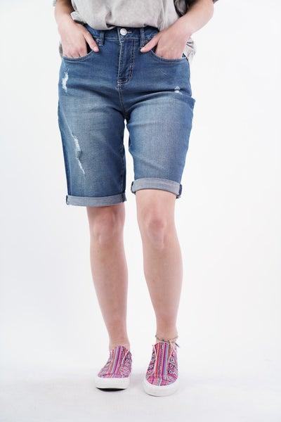 Good Life High Rise Bermuda Shorts, 2 Colors!