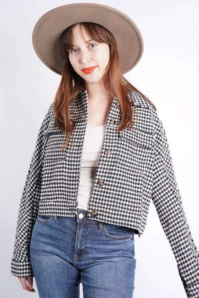 Houndstooth Pocket Jacket