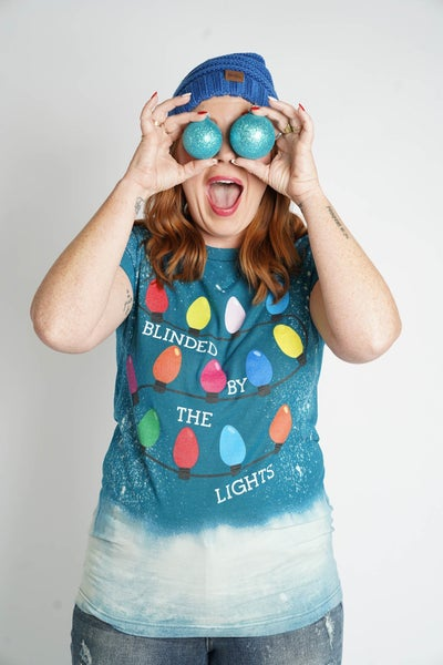Blinded By The Lights Holiday Graphic Tee
