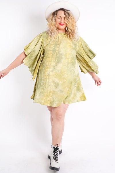 Peace And Love Tie Dye Mini Dress, 3 Colors!