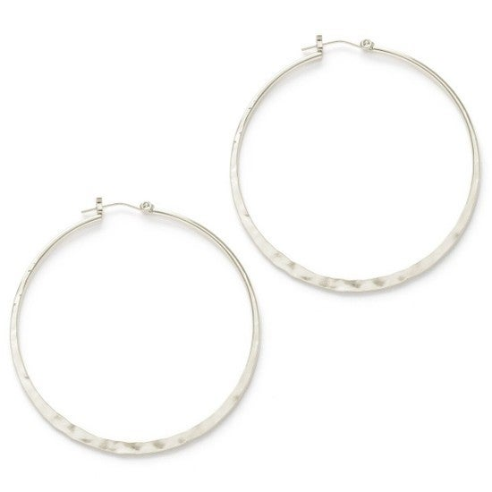"1.5"" Hammered Hoops"