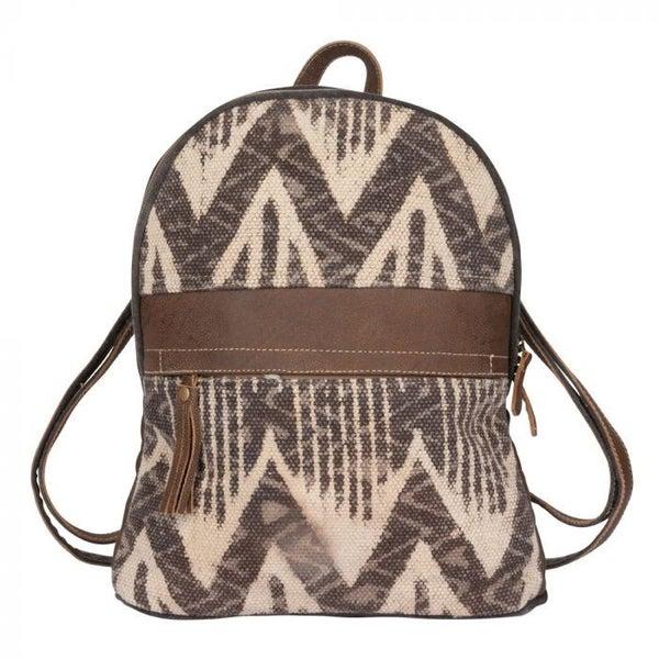 Brown Harmony Backpack Bag By Myra Bag