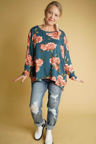 Jade Chic Tunic In Teal