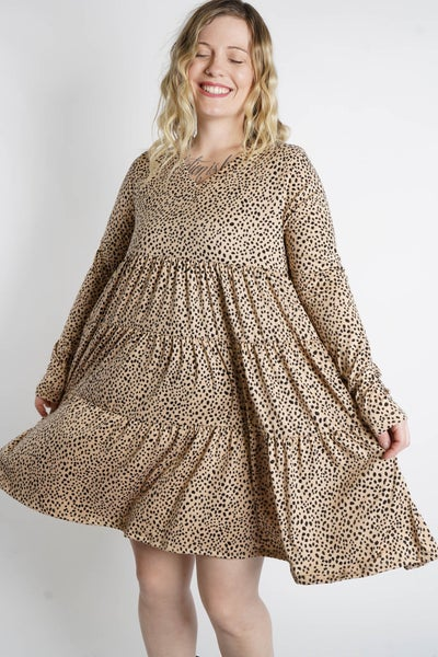 On The Catwalk Tiered Long Sleeve Dress