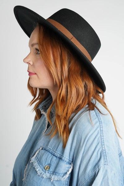 Erin's Favorite Boho Ribbon Trim Wool Hat