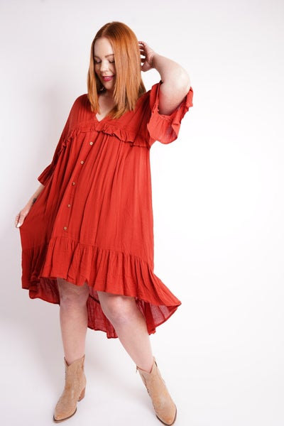Taos Ruffled high Low Dress