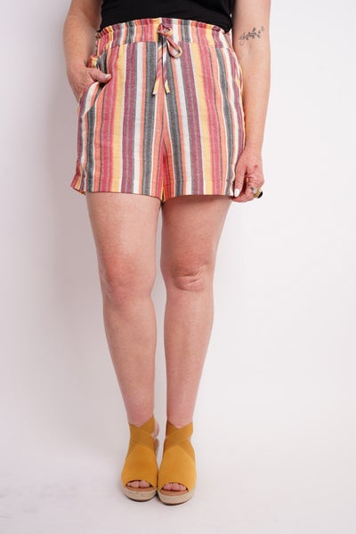 Between The Lines Striped Shorts