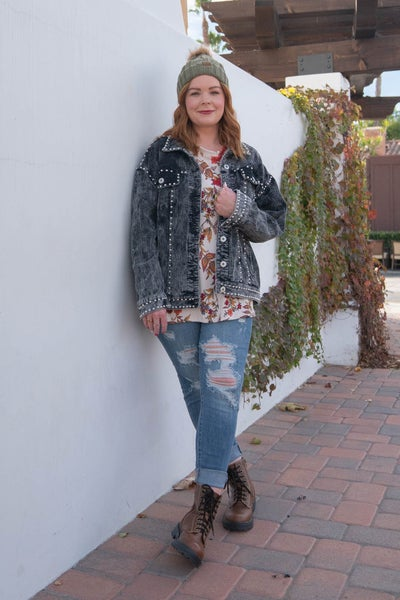 The NYAH in Denim -  Hi-Waist Button Fly Distressed Skinny Jean By Judy Blue