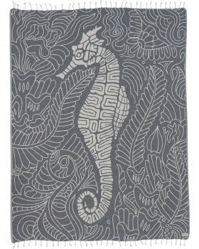Seahorse Swirl Large Towel