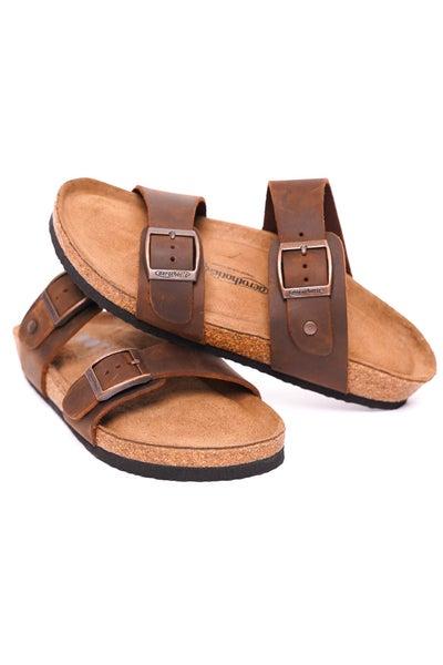 Vista Dual Strap Leather Sandals