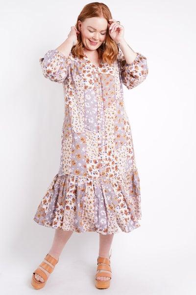 Sweet Darlin Floral Button Down Midi Dress