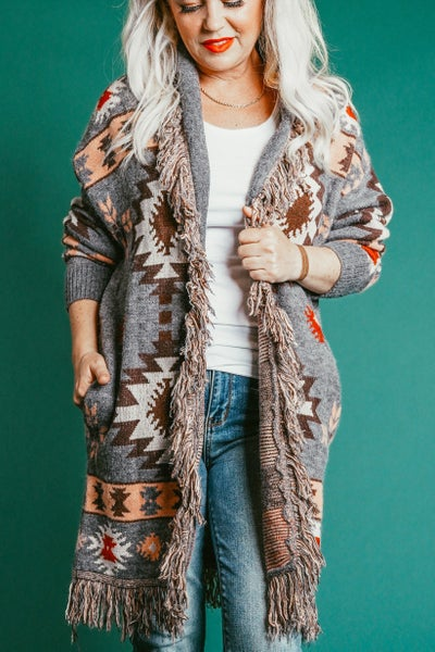 All Together Now Desert Print Cardigan
