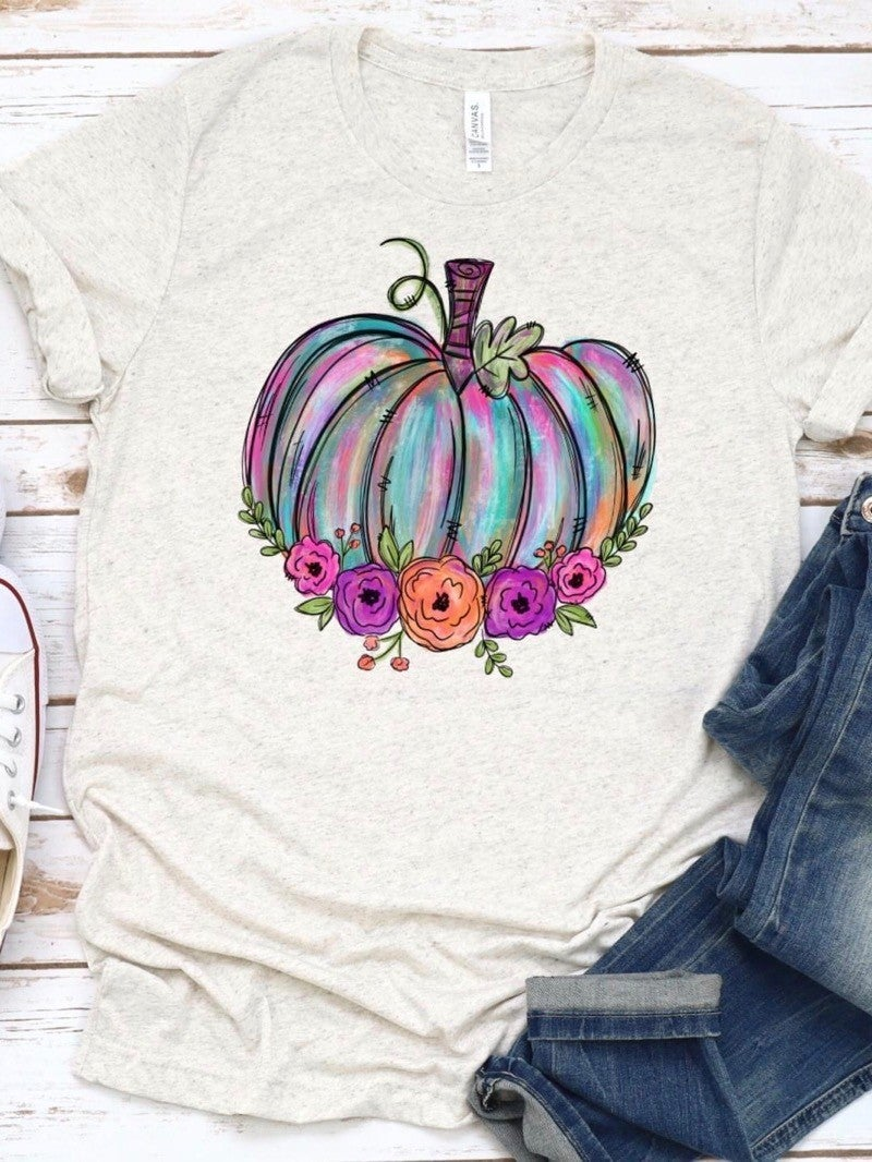 "GRAPHIC T - ""PASTEL PUMPKINS"""