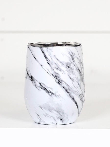 WHITE MARBLE WINE CUP