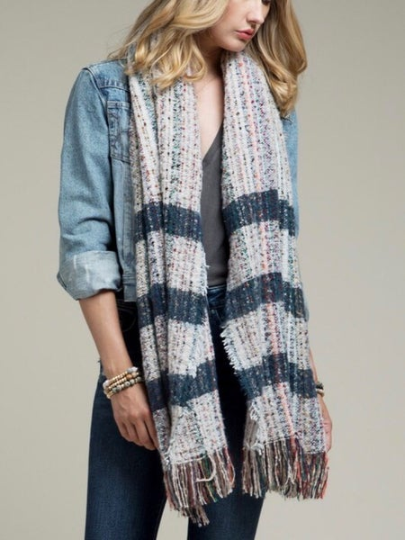 MULTI-COLORED OBLONG SCARF
