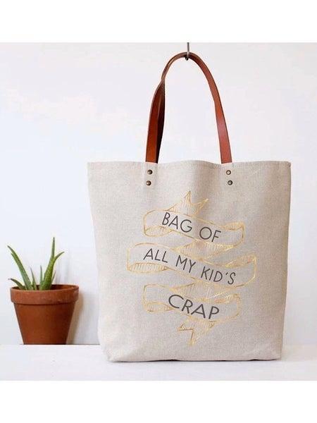 """KID'S CRAP"" CANVAS TOTE BAG"