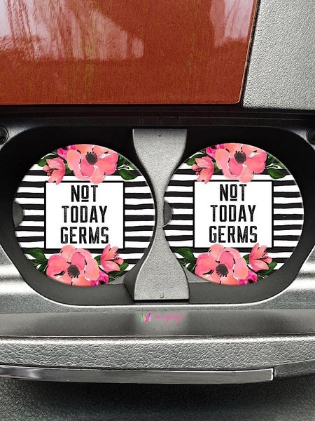 "COASTERS ON THE GO - ""NOT TODAY GERMS"""