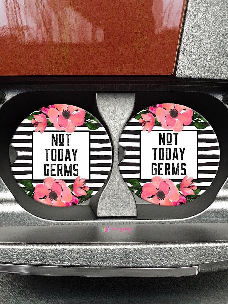 """COASTERS ON THE GO - """"NOT TODAY GERMS"""""""